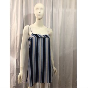 Lucca Couture Striped Blue Mini Dress